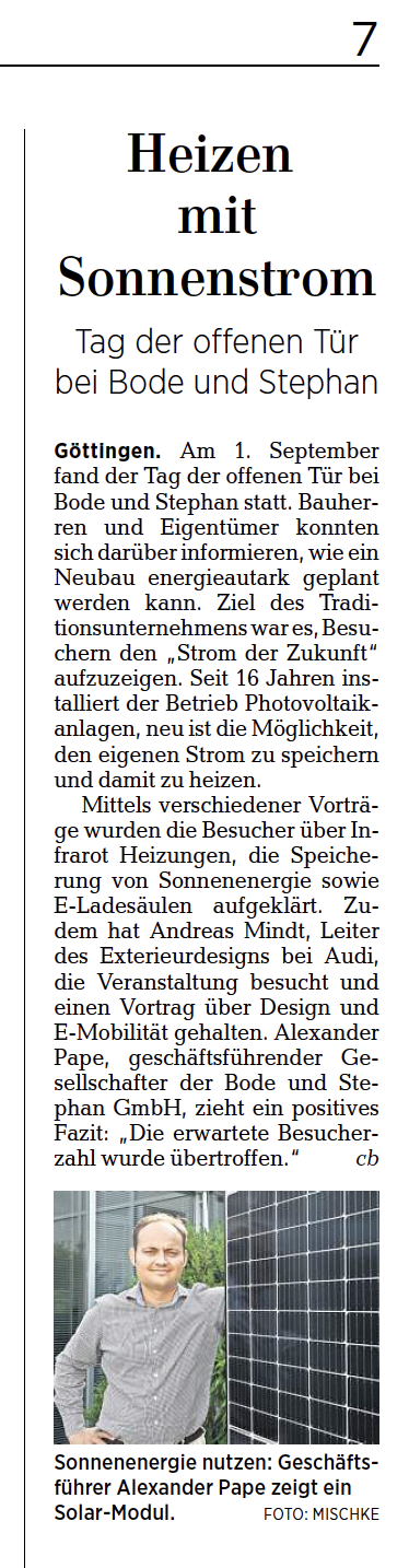 Göttinger Tageblatt, 7. September 2018